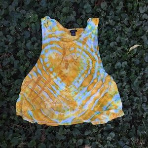 Tops - Tie Dyed Muscle Tank Top
